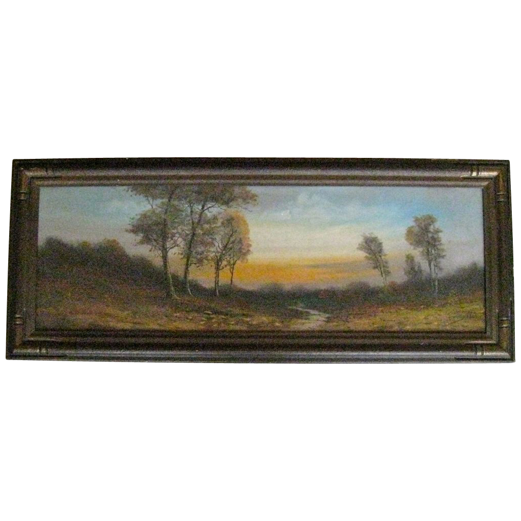 Drawing river pastel. Oil landscape painting by