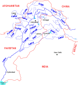 Drawing rivers simple. Indus river english wikipedia