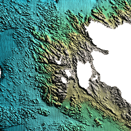 Drawing river underwater. Point lobos maps