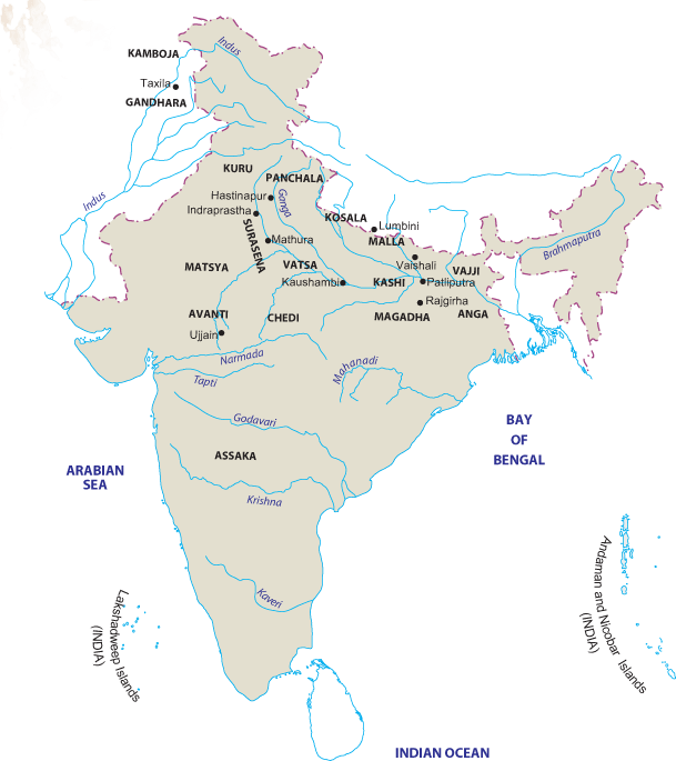 Landforms drawing map. India know all about