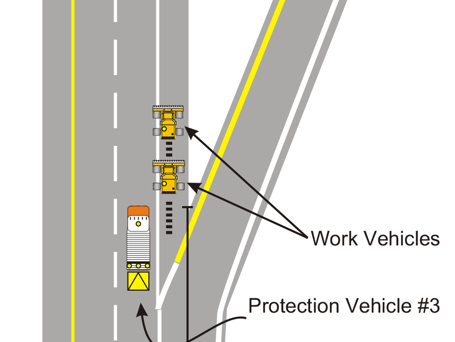 Ramp drawing. Traffic control drawings surface