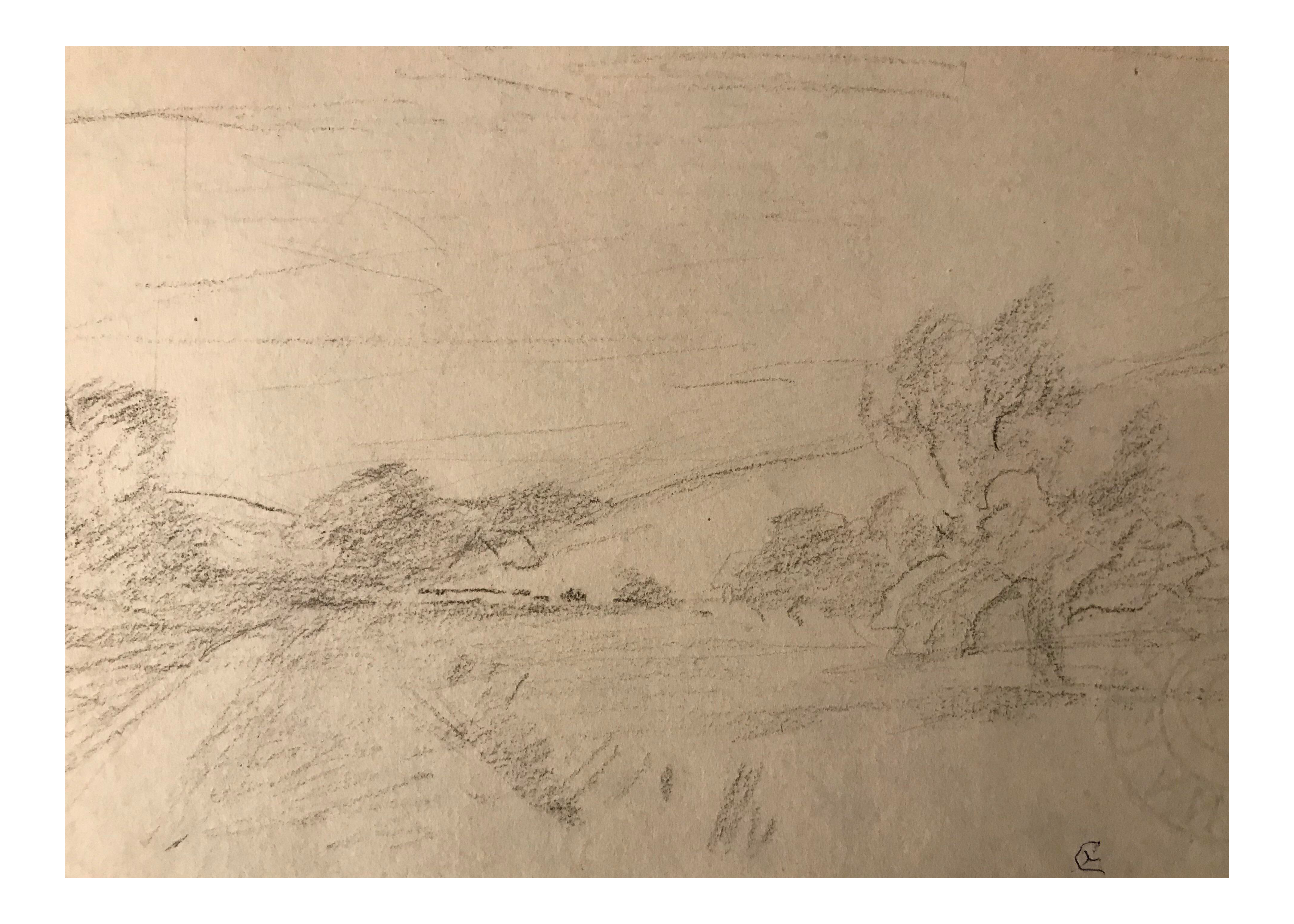 Drawing road country. Eliot clark chairish