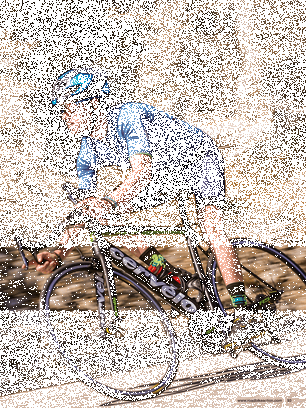 Drawing road gravel. Bike action magazine january
