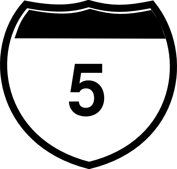 Drawing road interstate. Sign i clip art