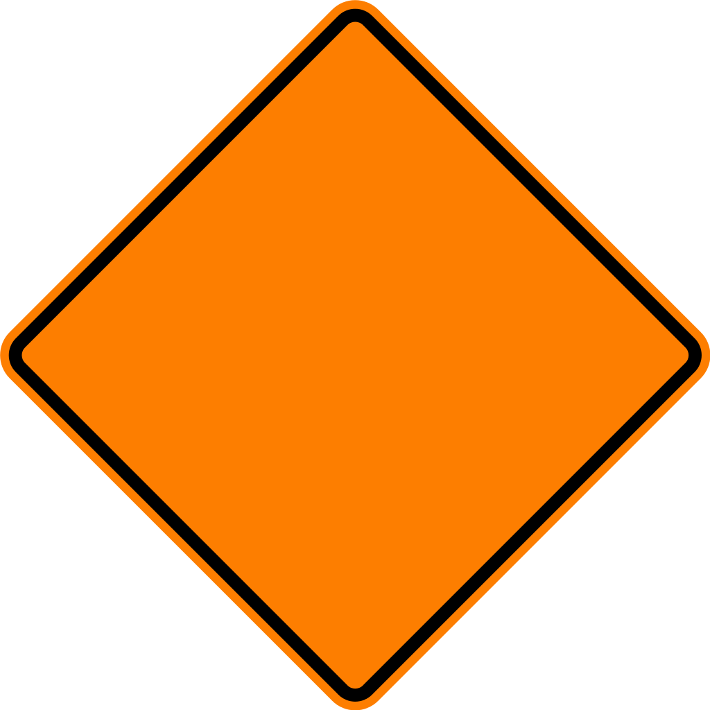 Shape svg diamond. File warning sign orange