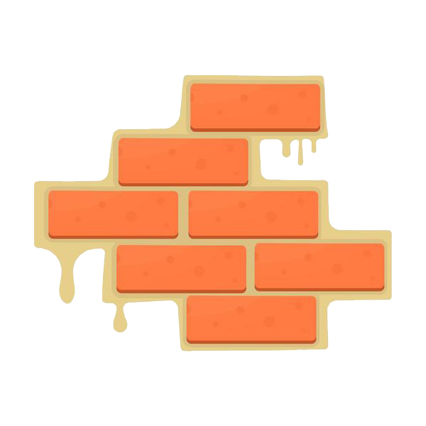 Drawing roads forest road. Brick wall illustration the