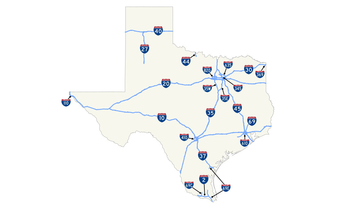 Drawing roads interstate. List of highways in