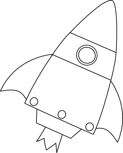 Drawing rockets clipart. Bottom borders black and