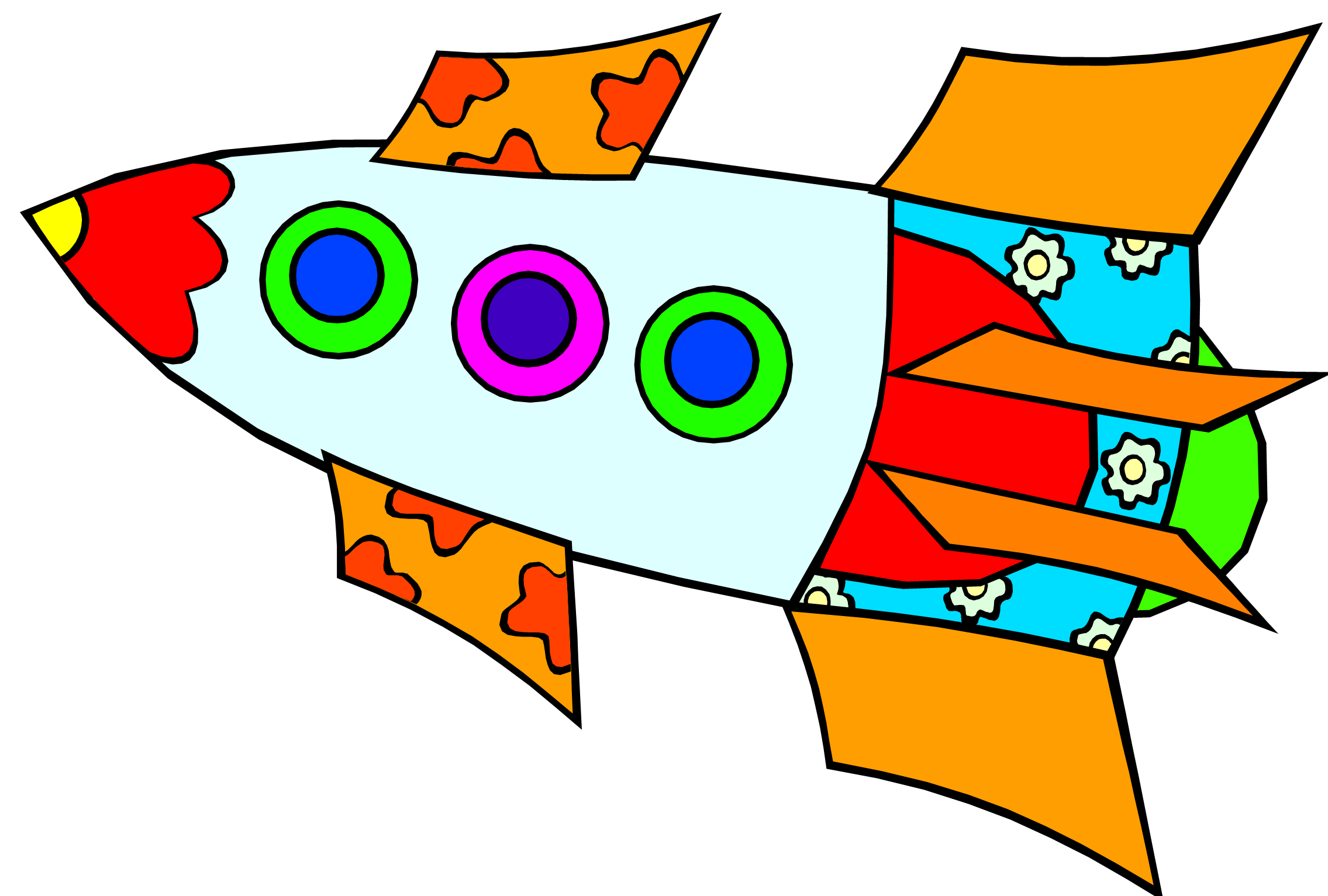 Drawing rockets children's. Rocket clipart childrens pencil