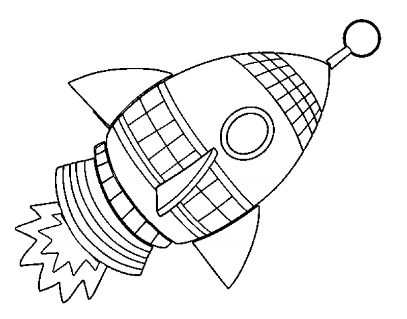 Drawing Rockets Coloring Transparent Clipart Free Download