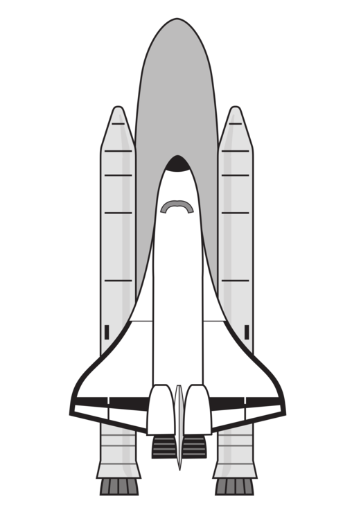 Spacecraft drawing step by. Space shuttle program enterprise