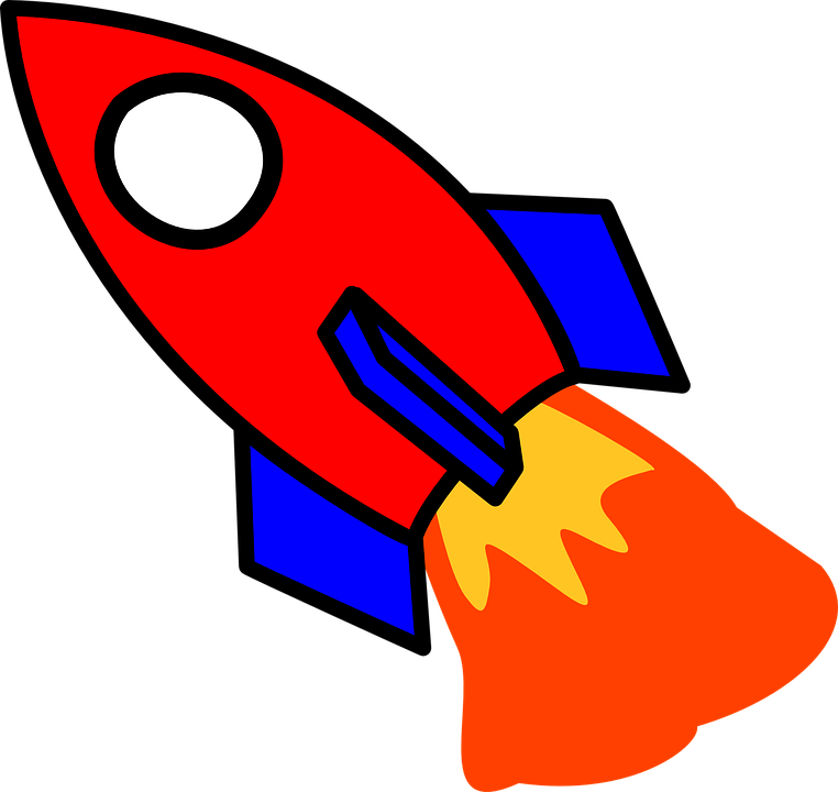 Drawing rockets rocket fire. Collection of free firing