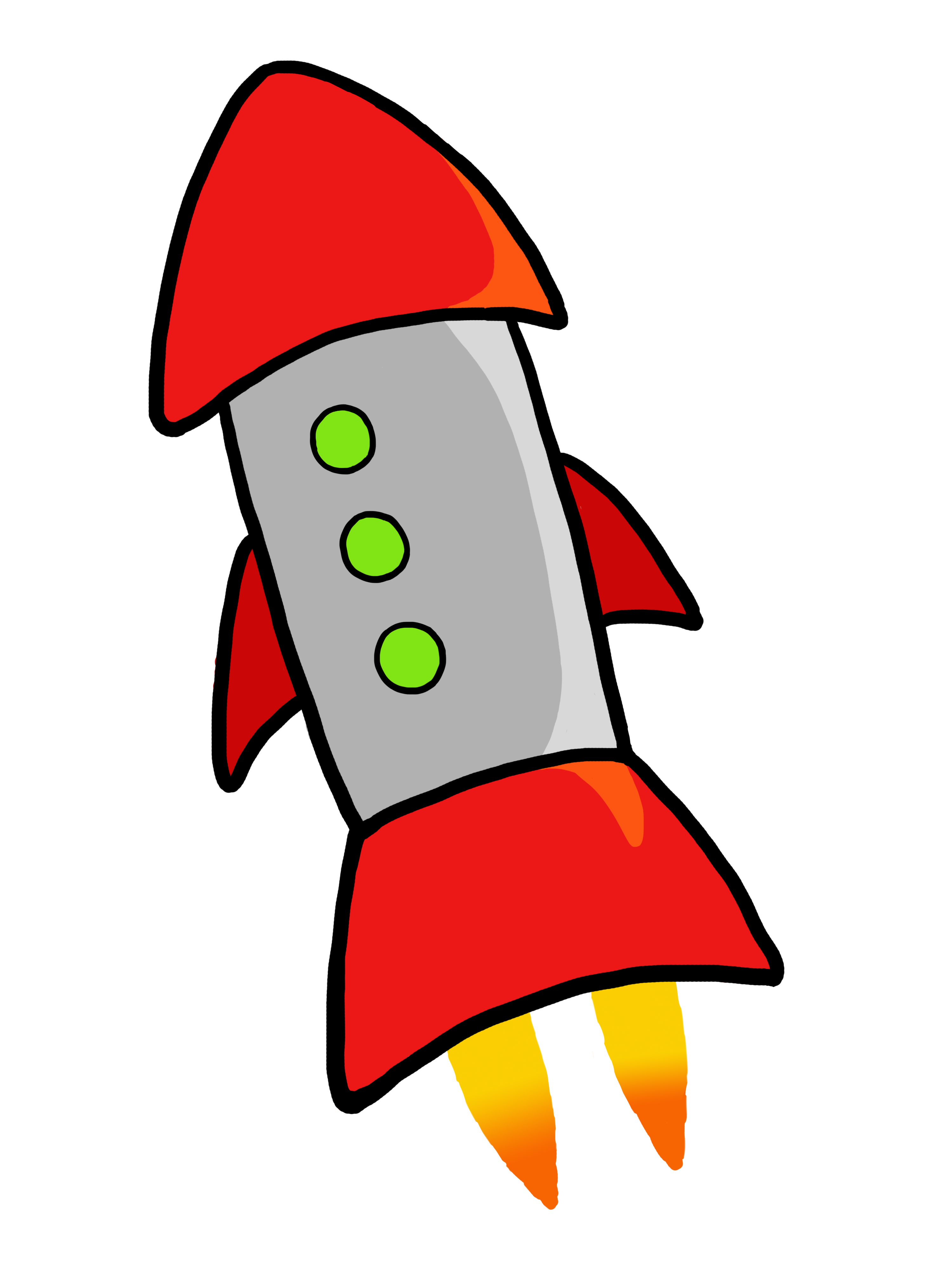 Gold rocket. Free picture of a