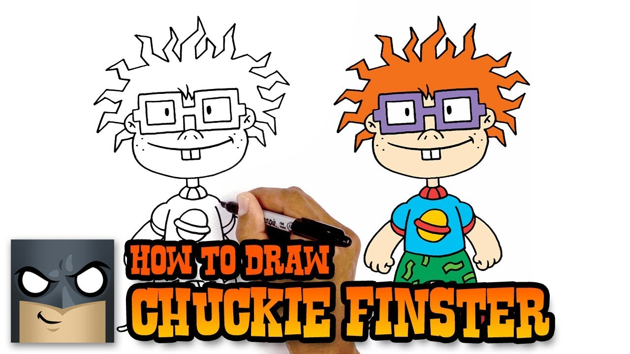 Drawing rugrats. How to draw chuckie