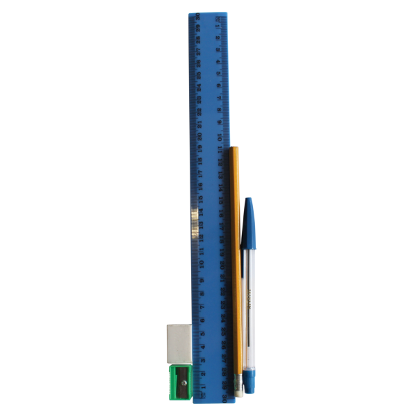 Drawing rulers eraser. Marlin stationery set piece