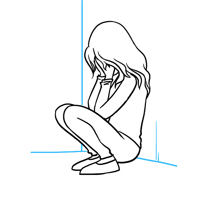 Drawing sadness pen. How to draw a