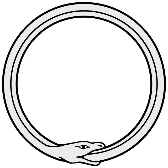 Drawing sadness nature. On the cyclical ouroboros