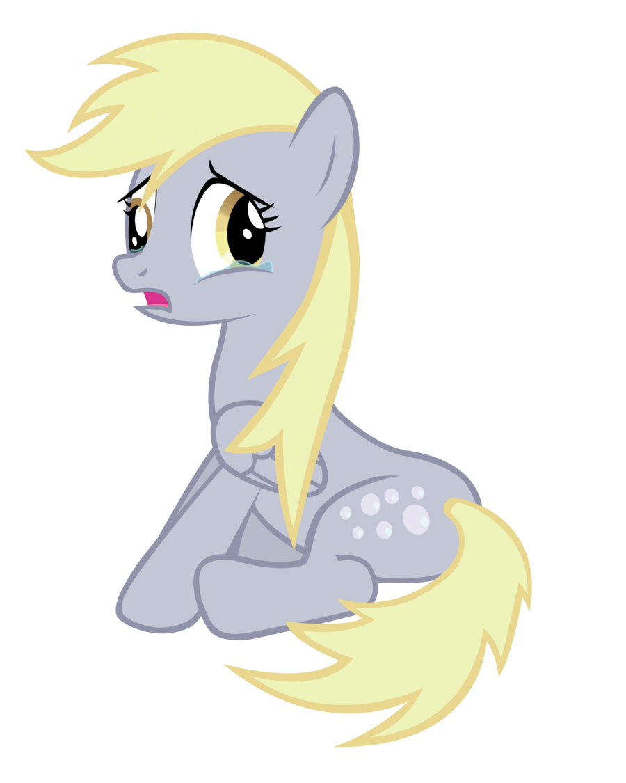 Drawing sadness scary. Scared derpy by blackm