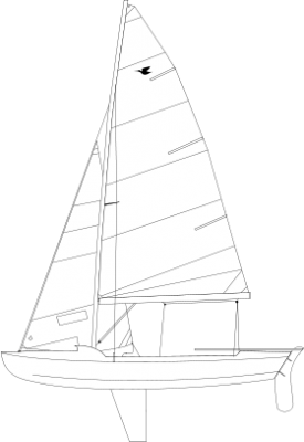 Drawing sailboats. Le snipe est un