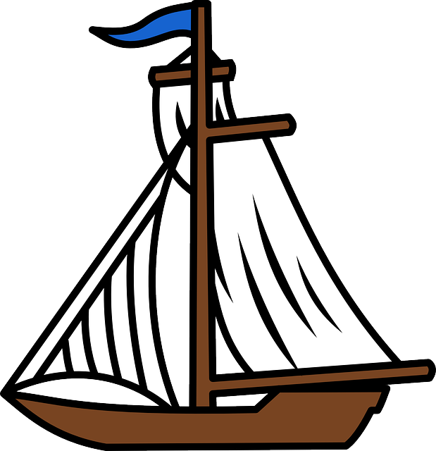 Drawing sailboats comic. Collection of free doat