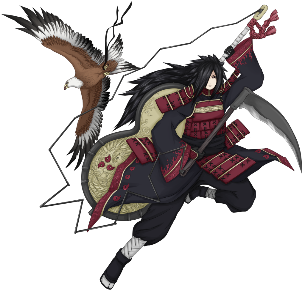 Drawing samurai full body. Madara render by fireeaglespirit
