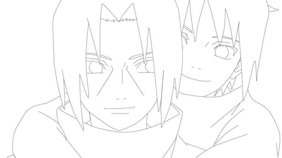 Drawing sasuke cute. Itachi and lineart by