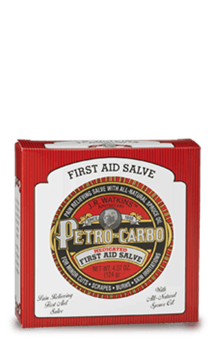 Drawing sav petro carbo. First aid salve for