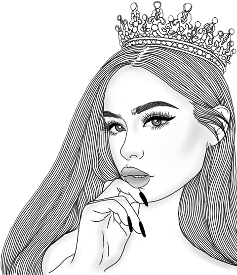Sketchy drawing pretty girl. Discover the coolest crown