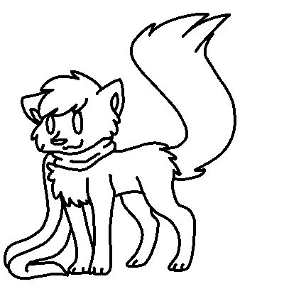 Drawing scarf art. Commission lineart fox cat