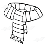 Drawing scarf line. Abeka clip art with