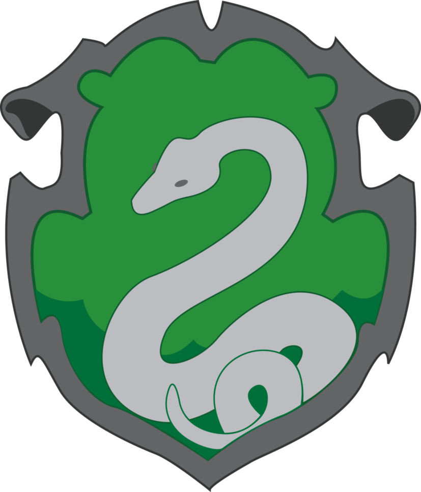 Drawing scarf slytherin. Crest by jendrawsit on