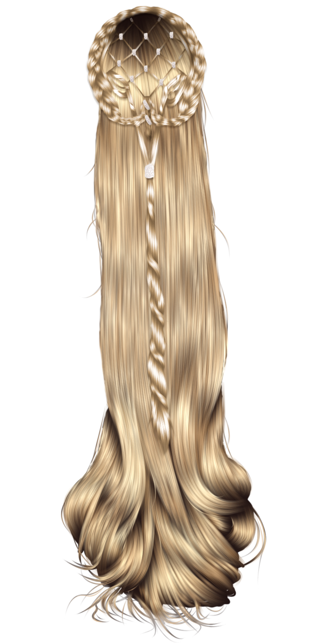 Drawing scarf different hairstyle. Fantasy hair by hellonlegs