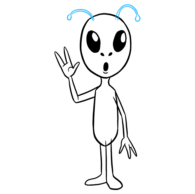 Drawing scary alien. How to draw an