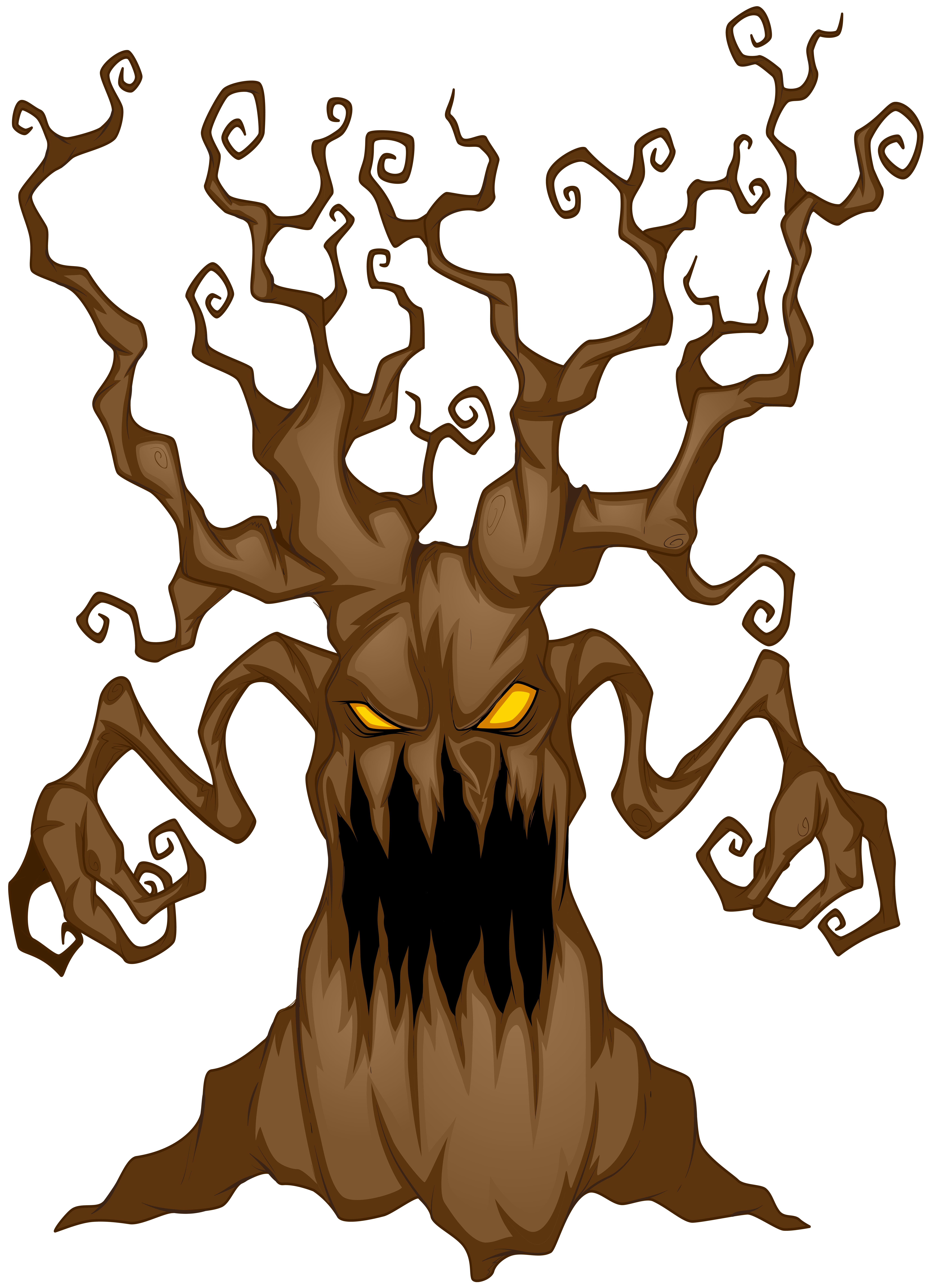 Drawing scary background. Tree jpg royalty free