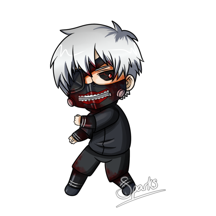 Transparent kaneki chibi. Ken by sparksreactor on