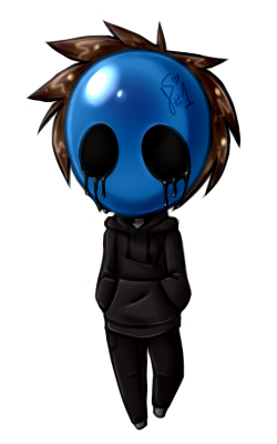 Drawing scary eyeless jack. Creepypasta chibi by silverfannumberone