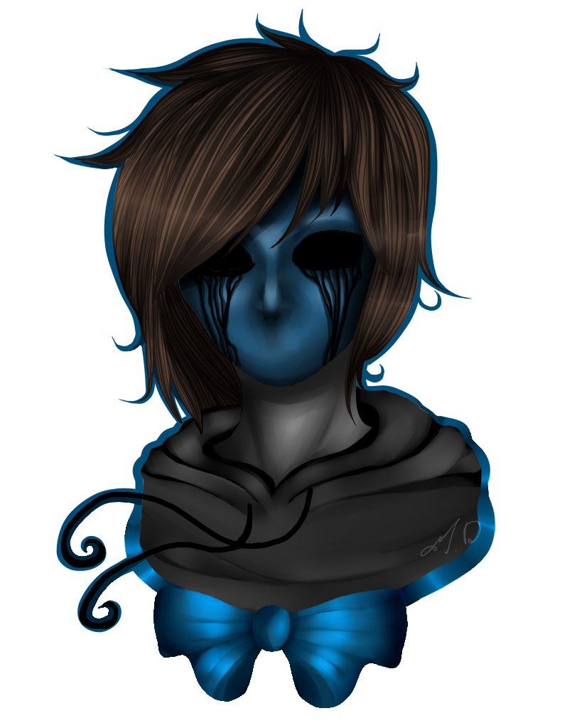 Drawing scary eyeless jack. Creepypasta by dashameleshkina deviantart