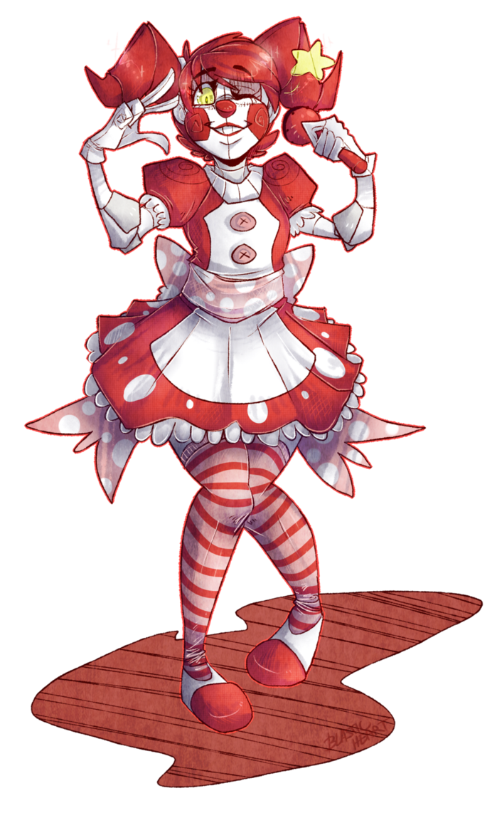 Drawing scary fnaf. Baby by blasticheart on