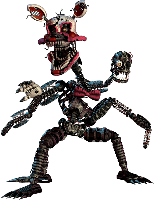 Transparent fnaf scary. Nightmare mangle now this