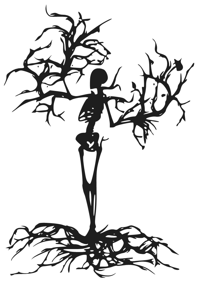 Drawing scary silhouette. Collection of easy