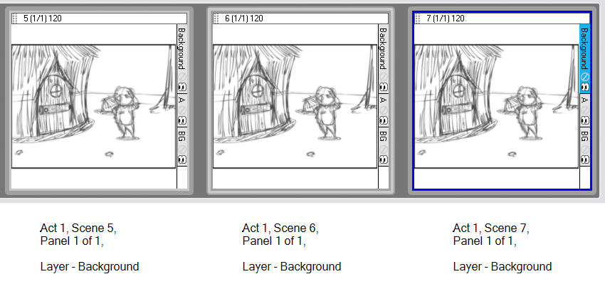 Drawing storyboard camera movement. Pro online help scenes