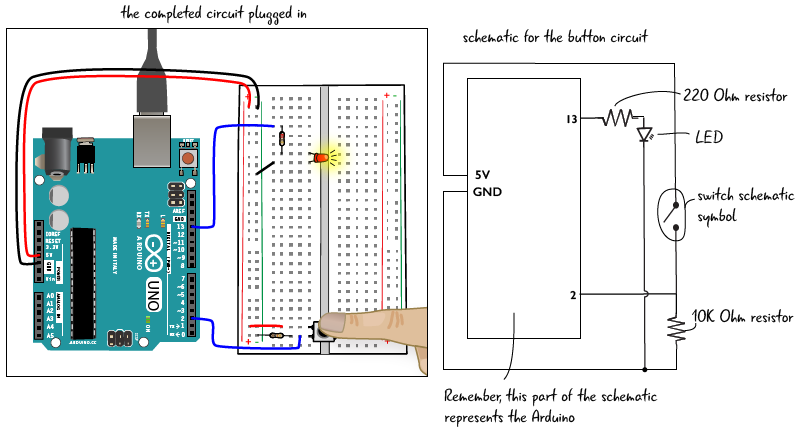 Drawing schematics arduino. Chapter add a button svg transparent