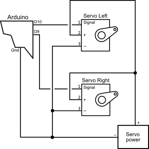 Operating two servos with. Drawing schematics arduino picture freeuse stock