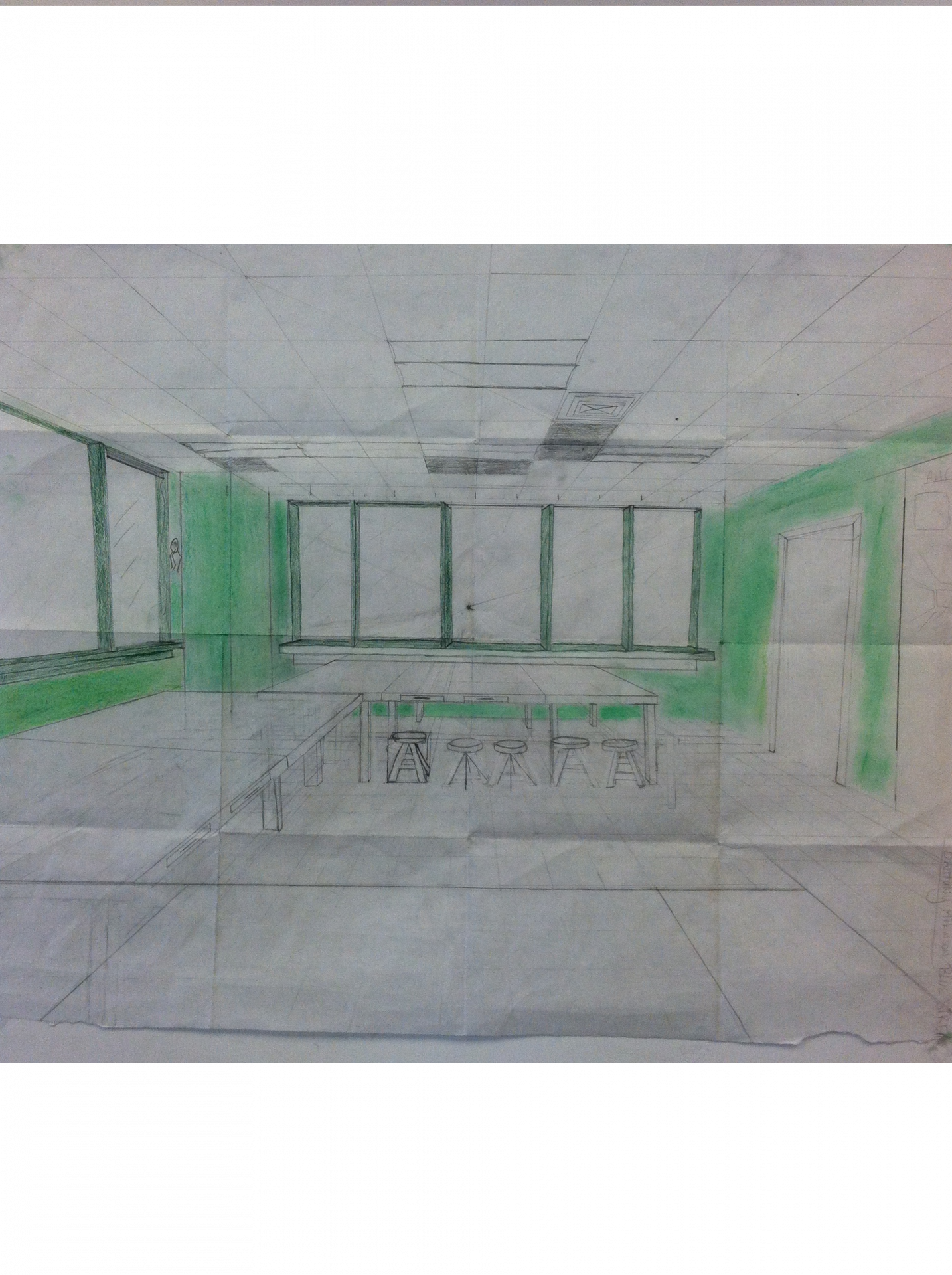 Drawing science. Final perspective leadership academy