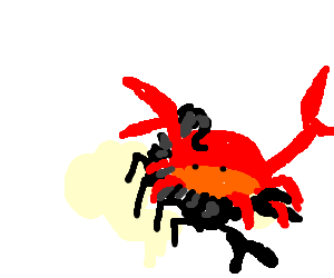 Drawing scorpions crab. Scorpion fights by buurvrouw