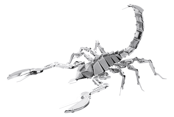 Drawing scorpion insect. Metal earth diy d