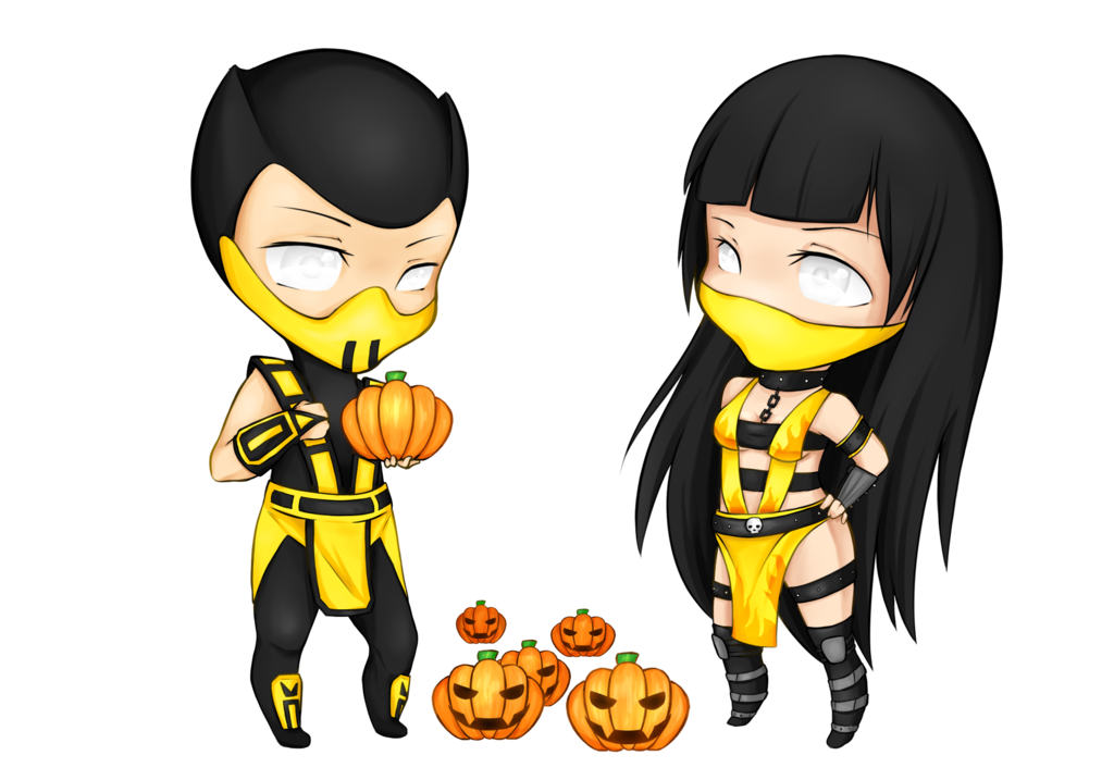 Drawing scorpion mortal combat. And hellfire chibi request