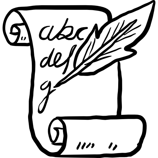 Drawing scrolls writing. Papyrus icon png svg
