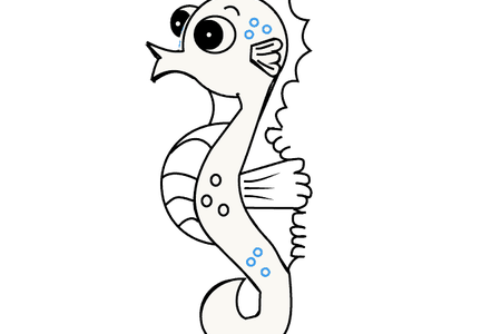 Drawing seahorse. Images of drawings k