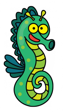Drawing seahorse anime. How to draw a